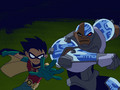 Robin and Cyborg - teen-titans wallpaper