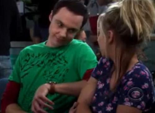 Sheldon Trys to Comfort Penny..kinda