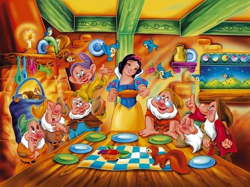 Snow White wallpaper titled Snow White & the 7 Dwarfs