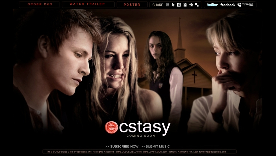 Stills and Poster from Charlie Bewley's movie 'Ecstasy'