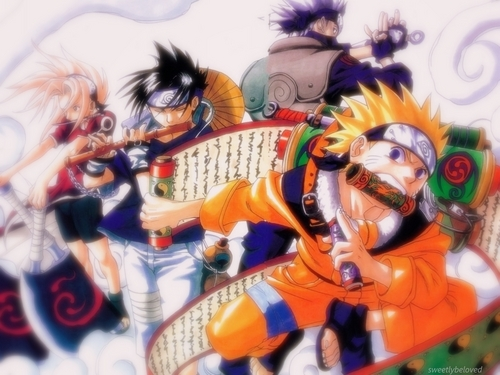 Naruto achtergrond containing anime entitled Team 7