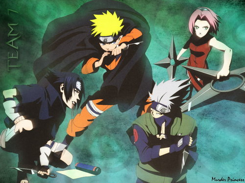 Naruto wallpaper containing anime called Team 7