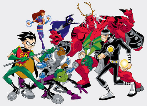Teen Titans wallpaper with Anime titled Teen Titans VS Villains