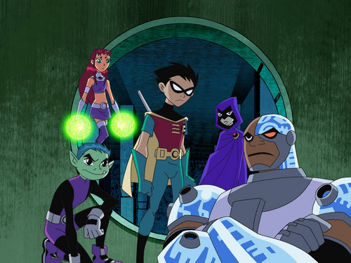 Teen Titans - les jeunes titans karatasi la kupamba ukuta probably containing anime called Teen Titans