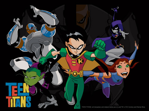Teen Titans - les jeunes titans karatasi la kupamba ukuta with anime called Teen Titans
