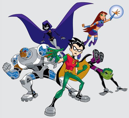 Teen Titans - les jeunes titans karatasi la kupamba ukuta probably with anime called Teen Titans