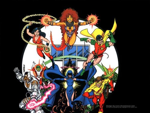 Teen Titans Hintergrund possibly with Anime entitled Teen Titans
