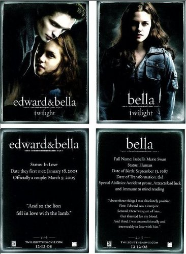 Twilight Movie wallpaper called Twilight Trading Cards