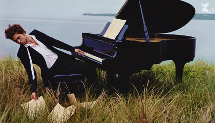 Robert Pattinson wallpaper with a grand piano and a concert grand called VF