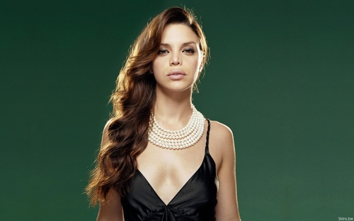 Vanessa Ferlito achtergrond probably with a cocktail dress, a bustier, and a chemise called Vanessa
