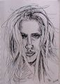Wind-blown Amanda Peet - amanda-peet fan art