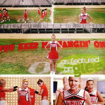 Quinn Fabray wallpaper probably containing a wicket titled cheerleader Q