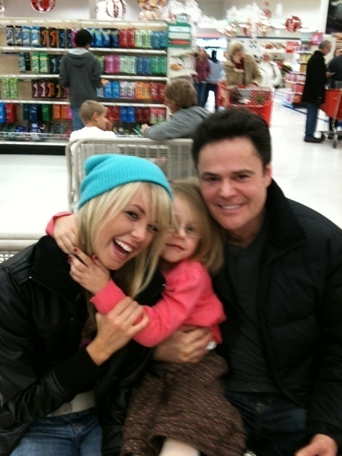 chelsie,donny osmend,and chelsie's niece