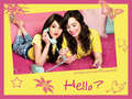 selena-gomez-and-demi-lovato - semi wallpaper:Hello? wallpaper