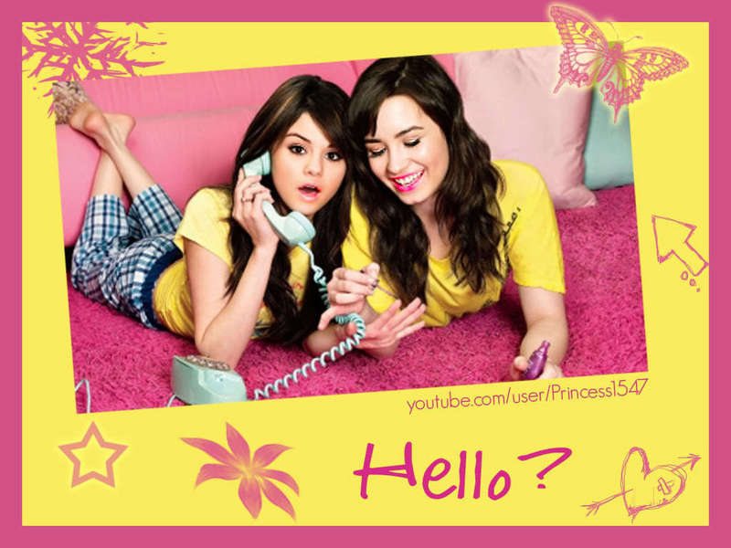 selena gomez and demi lovato wallpaper. Selena Gomez and Demi Lovato