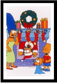 Les Simpsons fond d'écran with animé called the simpsons in christmas