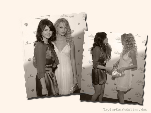 wallpaper sele and taylor