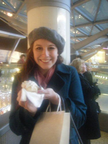 x-missmckena-x @ In Liverpool christmas shopping and eating a cupcake! - fanpop-users Photo