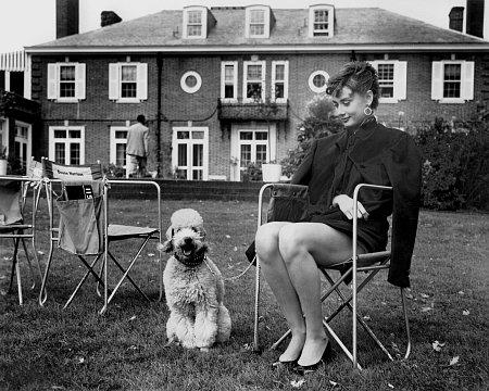 Audrey on Long Island, during the filming of Sabrina. -1953