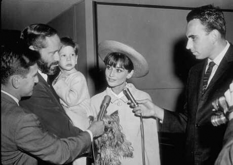 Audrey, with son Sean and husband Mel Ferrer. And Famous too. -1965