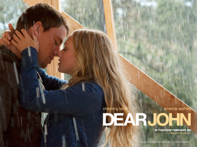 couple kissing. Dear John couple kissing