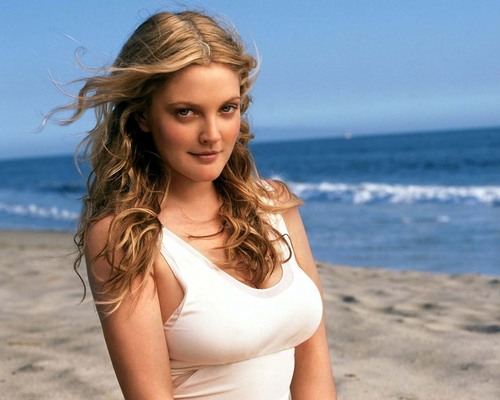 Drew Barrymore wallpaper possibly containing a maillot entitled Drew Pretty