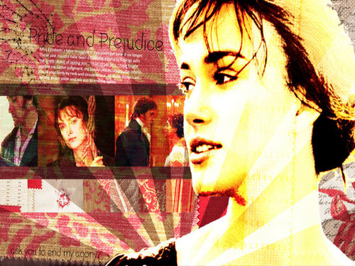 Pride and Prejudice wallpaper with a portrait called Elizabeth and Mr. Darcy