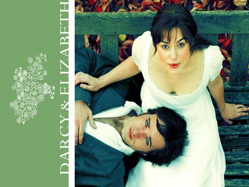 Pride and Prejudice wallpaper entitled Elizabeth and Mr. Darcy