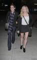 Jessica Stroup and Brittany Snow Walking Towards Foxtail Nightclub