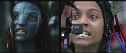 Avatar hình nền entitled Neytiri/Zoe (Behind The Scenes)