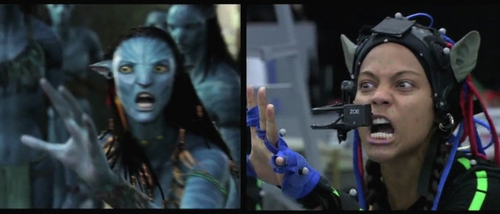 Avatar wallpaper called Neytiri/Zoe (Behind the scenes)