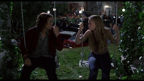Julia Stiles wolpeyper titled Patrick and Kat on the Swings