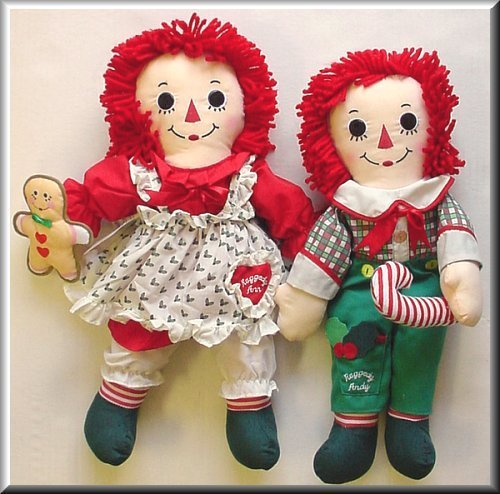 Raggedy Ann and Andy বড়দিন পুতুল