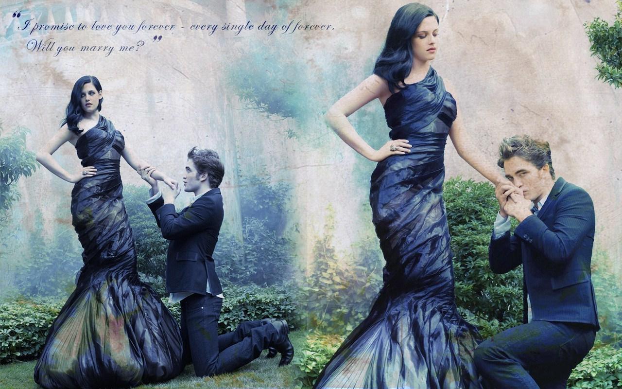 Robert & Kristen - twilight-series wallpaper