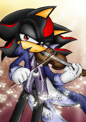 Shadow The Hedgehog wallpaper titled Shadow and hes violin <3