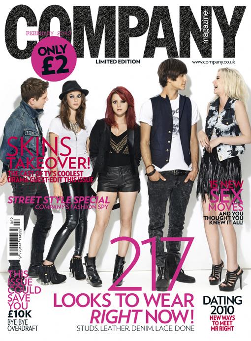Skins Cast - Company Magazine Cover