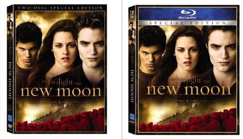"""NEW MOON"" DVD (Two-Disc Special Edition) and Blu-ray Official Release Date: March 20th"