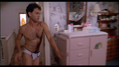 """Tom Hanks wallpaper with skin, a hunk, and a six pack called Tom in """"Big"""""""