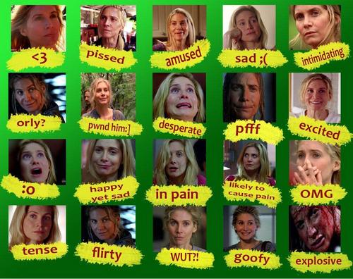Various emotions of Juliet