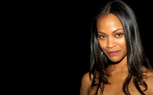 Zoe Saldana Widescreen Wallpaper