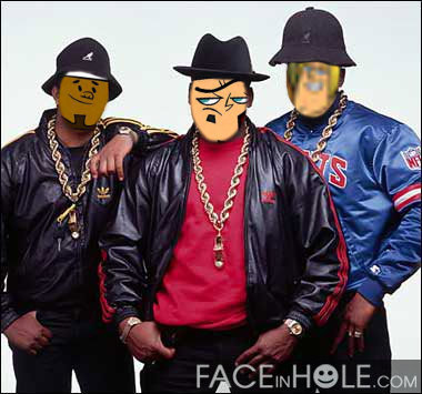 geoff,dj and duncan as rappers