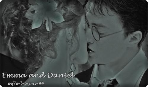 hermione y harry -emma y daniel