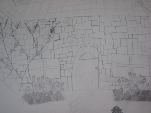 i drew this.....edward and bella's cottage close up