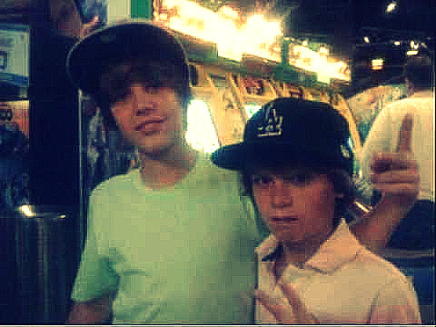 Justin Bieber wallpaper titled justin and christian