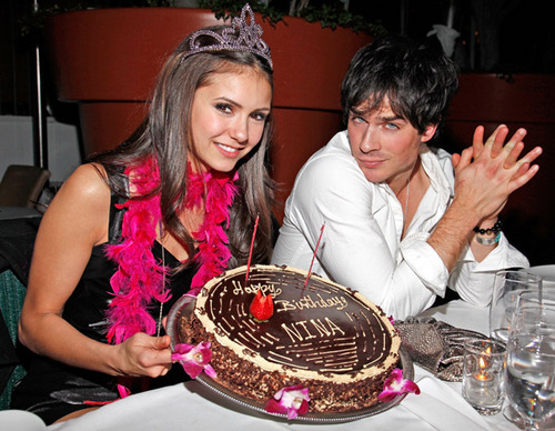 on Nina's bday - ian-somerhalder-and-nina-dobrev Photo