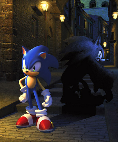 sonic unleashed original art