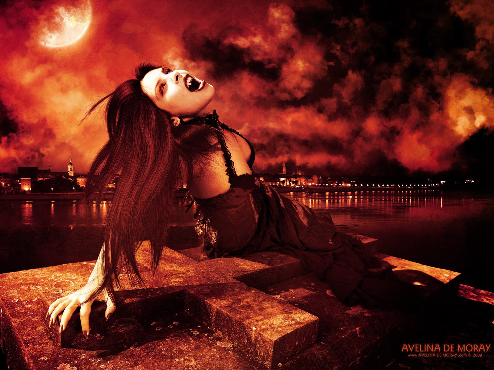 Vampire Love Hd Wallpaper : Vampires images vampire art wallpapers by artist Avelina De Moray HD wallpaper and background ...