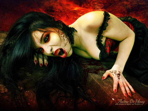 vampire art wallpapers by artist Avelina De Moray - vampires Wallpaper