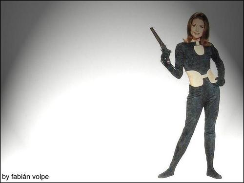 wallemmaaction (Emma Peel wallpaper)