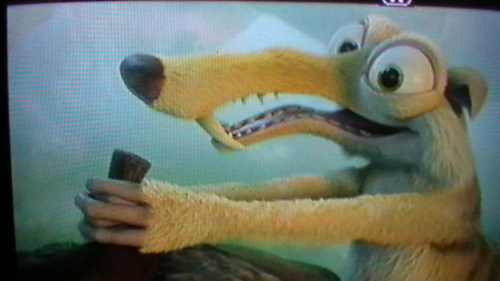 Ice age: Scrat and Scratte. wallpaper called *click*